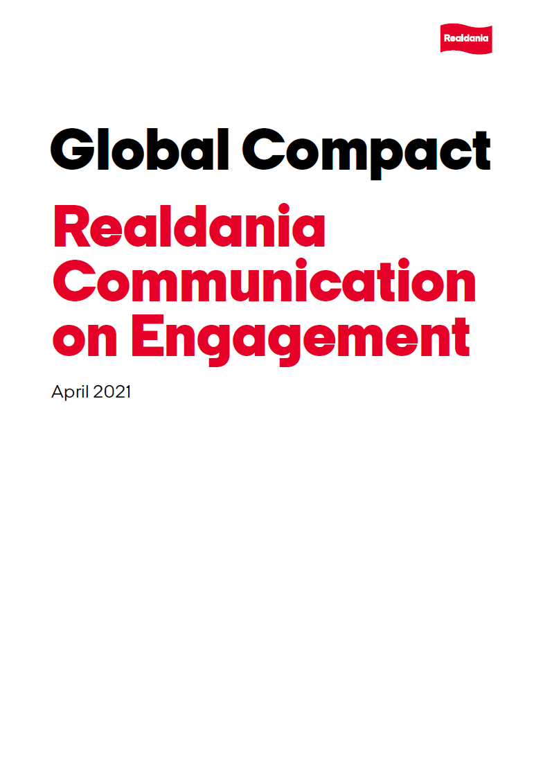 Global Compact 2021 - Realdania Communication on Engagement