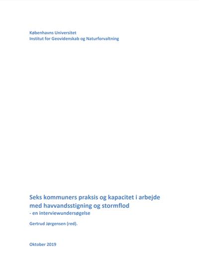 Seks kommuners praksis og kapacitet i arbejde med havvandsstigning og stormflod