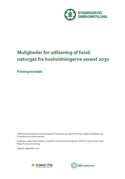 Fremsynsnotat om  om udfasning af naturgassen