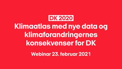 Klimaatlas med nye data og klimaforandringernes konsekvenser for Danmark
